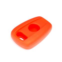 Schlüsselhülle Fiat- 2 Tasten - für FIA101 - FIA102 - Material Weichgummimaterial - Farbe ROT