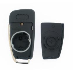 Klappschlüsselgehäuse für Audi - 3 Tasten - Schlüsselblatt HU66 - After Market Produkt