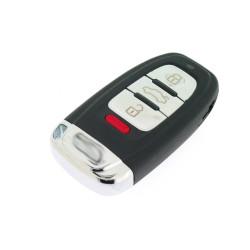 Smartkey Schlüsselgehäuse für Audi - 3 Tasten und Panik Taste - mit Notschlüssel - After Market Produkt