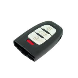 Smartkey Schlüsselgehäuse für Audi - 3 Tasten und Panik Taste - ohne Batteriehalter und Notschüssel - After Market Produkt