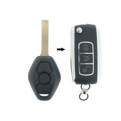 BMW Klapschlüssel - 3 Tasten -  434 Mhz - ID44 Chip - Schlüsselblatt HU92R - After Market Produkt