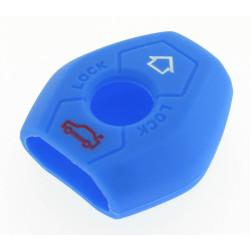 Schlüsselhülle BMW - 3 Tasten - Material Weichgummimaterial - Farbe Blau - Für Artikel BMW103-BMW104