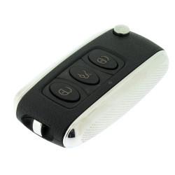 Bentley Klappschlüssel Gehäuse 3 Tasten  - Schlüsselblatt HU66 - OEM Produkt - Höhe Qualität