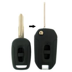Chevrolet Klappschlüssel-Umbauset 2 Tasten für Artikel 'CHE103' - Schlüsselblatt HU46 -  Nut links - After Market Produkt