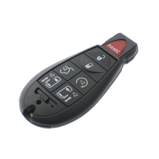 Chrysler  - Dodge - Jeep Smartkey Schlüssel Gehäuse - 6 Tasten + Panik Taste  - After Market Produkt