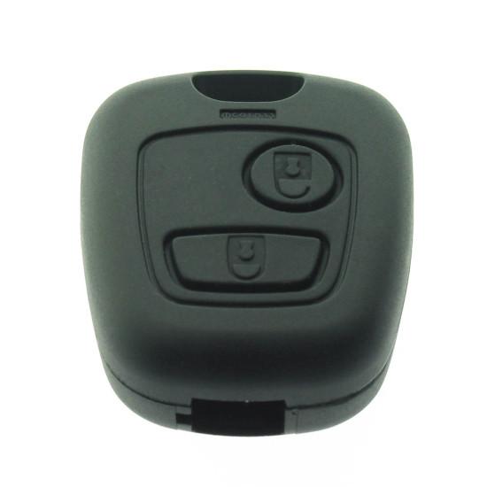 Peugeot 2 Tasten Schlüssel Gehäuse - für PEU106 - ohne Schlüsselblatt - After Market Produkt