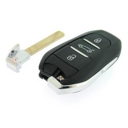Smartschlüssel Gehäuse für Peugeot - Citroen - 3 Tasten - After Market Produkt
