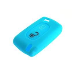 Schlüsselhülle Citroen- 2 Tasten - Material Weichgummimaterial - Farbe lichtblau