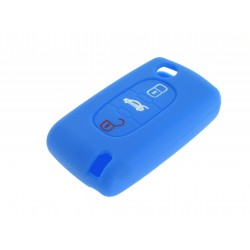 Schlüsselhülle Citroen- 3 Tasten - Material Weichgummimaterial - Farbe Dunkelblau
