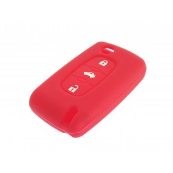 Schlüsselhülle Citroen- 3 Tasten - Material Weichgummimaterial - Farbe Rot