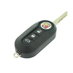 Abarth Klappschlüssel 3 Tasten -  434 Mhz - ID46  Chip - Delphi - Schlüsselblatt  SIP22  - OEM Product