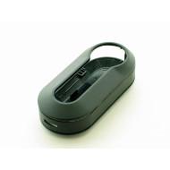 Schutzhülle / Schlüsselhülle  für Klappschlüssel Fiat 500 und Punto - Farbe schwarz