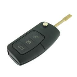 Klappschlüssel Gehäuse 3 Tasten für  Ford B-Max - C-Max - Ecosport - Fiesta - Focus - Galaxy - Mondeo - S-Max - Transit Courier - After Market Product