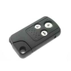Honda 3 Tasten Smartkey Schlüssel Gehäuse mit Notschlüssel - Schlüsselblatt HON66 - After Market Produkt