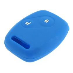 Schlüsselhülle Honda- 2 Tasten - Material Weichgummimaterial- Farbe Dunkelblau
