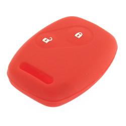 Schlüsselhülle Honda- 2 Tasten - Material Weichgummimaterial - Farbe Rot