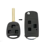 Lexus Klappschlüssel-Umbauset 3 Tasten, für Artikel 'LEX105' Schlüssel - Schlüsselblatt TOY48 - After Market Produkt