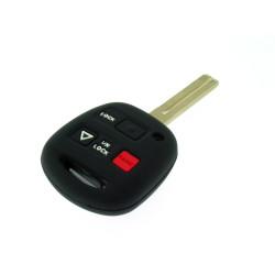 Schlüsselhülle Lexus - 3 Tasten - Material Weichgummimaterial- Farbe Schwarz