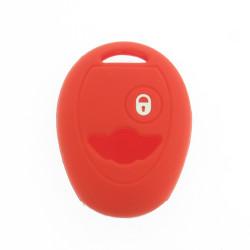 Schlüsselhülle Mini - 2 Tasten - Material Weichgummimaterial - Farbe Rot - Für Artikel MIN101 - After Market Produkt