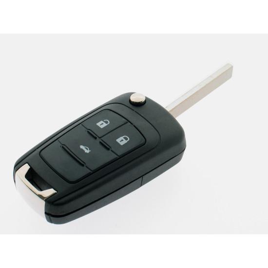 Klappschlüssel für Opel - 3 Tasten - 434 Mhz - Keyless - 13584834 - After Market Produkt