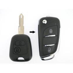 Peugeot Schlüssel 2 Tasten - Peugeot 206 (2005- ) - 6554YQ  - ohne Nebellampe  - After Market Produkt