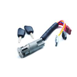 Peugeot Komplettes Zündschlossset mit 2 gefräßten Schlüsseln für Partner 96 - 98 - Schlüsselblatt SX9 - After Market Produkt