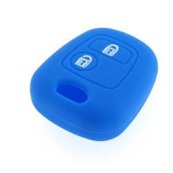 Schlüsselhülle Peugeot- 2 Tasten - Material Weichgummimaterial - Farbe DUNKELBLAU - Für Artikel PEU101 - PEU102 - PEU105 - PEU106