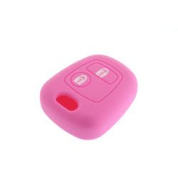 Schlüsselhülle Nissan - 2 Tasten - Material Weichgummimaterial - Farbe Rosa