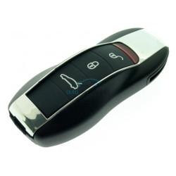 Smartkey Schlüssel Gehäuse für Porsche Cayenne - Panamera - Macan- 3 Tasten + Panik Taste - mit Notschlüssel - After Market Produkt
