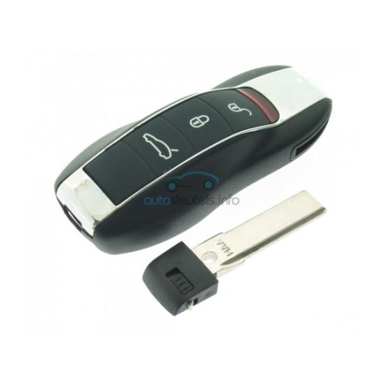 Smartkey für Porsche Cayenne - Panamera - Macan - 3 Tasten - KEYLESS  - Inklusive Notschüssel  - After Market Produkt