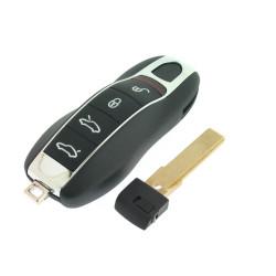 Schlüssel Gehäuse für Porsche - 4 Tasten - ohne Panik Taste für Porsche Cayenne - Panamera - Macan - After Market Produkt