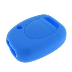 Schlüsselhülle Renault - 1 Taste - Material Weichgummimaterial - Farbe Blau