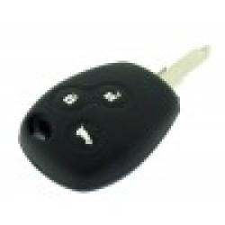 Schlüsselhülle Renault - 3 Tasten - Material Weichgummimaterial - Farbe  SCHWARZ