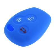 Schlüsselhülle Renault - 3 Tasten - Material Weichgummimaterial - Farbe BLAU