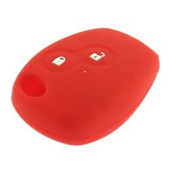 Schlüsselhülle Renault - 2 Tasten - Material Weichgummimaterial - Farbe rot