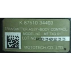 Ssangyong Schlüssel mit Elektronik 433 Mhz - 3 Tasten - OEM Produkt - type 34403
