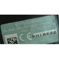 Ssangyong Schlüssel mit Elektronik 433 Mhz - 3 Tasten - OEM Produkt - type 34203