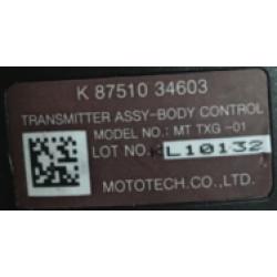 Ssangyong Schlüssel mit Elektronik 433 Mhz - 3 Tasten - OEM Produkt - type 34603