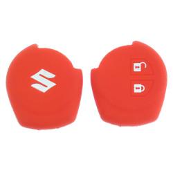 Schlüsselhülle Suzuki- 2 Tasten - Material Weichgummimaterial - Farbe Rot