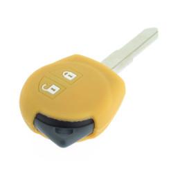 Schlüsselhülle Suzuki- 2 Tasten - Material Weichgummimaterial - Farbe Gelb