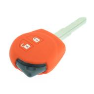 Schlüsselhülle Suzuki- 2 Tasten - Material Weichgummimaterial - Farbe Orange