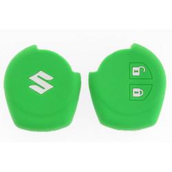 Schlüsselhülle Suzuki- 2 Tasten - Material Weichgummimaterial - Farbe grün