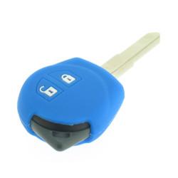 Schlüsselhülle Suzuki- 2 Tasten - Material Weichgummimaterial - Farbe Dunkelblau