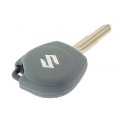 Schlüsselhülle Suzuki- 2 Tasten - Material Weichgummimaterial - Farbe Grau