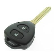 Toyota 2 Tasten Schlüssel Gehäuse  - Hilux- IQ - Urban Cruiser - RAV4 - Yaris - Schlüsselblatt TOY43 - After Market Produkt