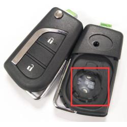 Toyota Schlüssel Gehause - 2 Tasten - Schlüsselblatt TOY48 - VA2 - After Market Produkt