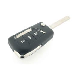 Toyota Schlüssel - 3 Tasten - 434 Mhz - ID74 chip - Corolla - Auris - Aygo - After Market Produkt