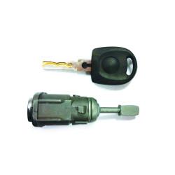 Tür Schloss mit Schlüssel für Volkswagen Golf MK3 - Schlüsselblatt HU49