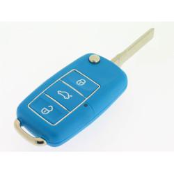 Klappschlüsselgehäuse für VW - 3 Tasten  - Schlüsselblatt HU66 - Luxus Ausführung   - mehrere Farben - After Market Produkt