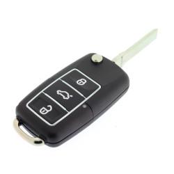 Klappschlüssel Gehäuse 3 Tasten für Skoda - Schlüsselblatt HU66 - After Market Produkt